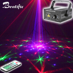 LED Disco Laser Show Projector Sound Party Lights for Home Discos Lamp Club Bar DJ Lumiere 96 Patterns