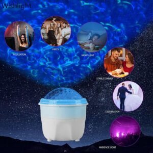 USB HD Projector Water Pattern Flame Lamp Ocean Starry Sky Projection Night Light Holiday Romantic Atmosphere Decorative Lights