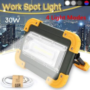 4 modes Led Portable Spotlight Super Bright cob Led Work Light Rechargeable for Outdoor Camping Lampe Led Flashlight