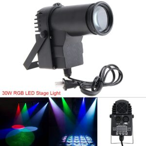15W RGBW DMX LED Stage Light Pinspot Beam Spotlight Professional DJ Bar KTV Party Atmosphere Stage Lighting with Voice Control