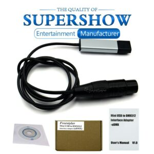 Professional USB to DMX512 Interface Adapter LED Computer PC Stage Lighting Control Cable Freestyler Download Stage DJ Equipment