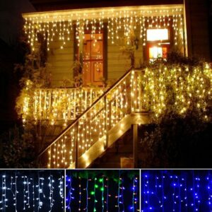 LED Curtain Icicle Fairy String Lights 4m 100leds ice bar Lamps Christmas 110V/220V New year Garden Xmas Wedding Party Decor