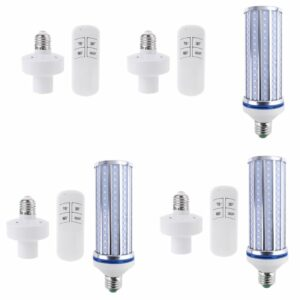 60W UV Germicidal light LED UVC Light Bulb Room E27 E26 Lamp 110V 220V 86-265V w/ Timing & Remote Control & Lamp Holder G8TB