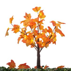 24 Bulbs LED Maple Leaves Branch Tree Light Desk Lamp Home Christmas Wedding Harvest Festival Decorations Lights