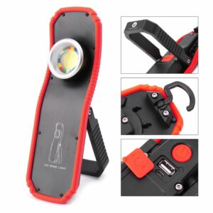 60W Portable Flashlight Torch USB Rechargeable LED Work Light Magnetic COB Lantern Hanging Outdoor Camping Hook Lamp Light