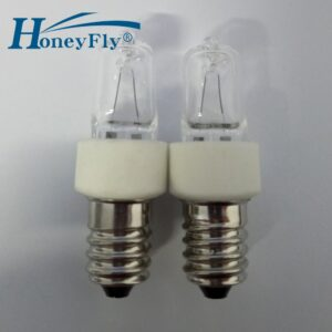 HoenyFly 10pcs JD 25W E14 Refrigerator Halogen Lamp Energy Saving Halogen Bulb 2700-3000K 130V/240V Oven Lamp Warm White