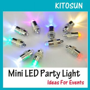 100pcs Birthday Cake Light Up Blinking Mini LED Light 11 Colors Availbale RGB Color Changing Decorative Lamp wedding party decor