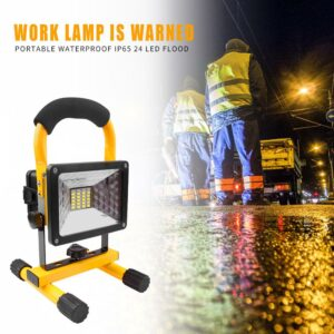 30W LED Flood Work Light Portable Comfortable Sponge Handle Heat Dissipation Waterproof 3 Mode Rechargeable for Car Repair