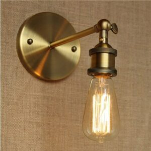 America Loft Industrial Vintage Wall Lamp Lights For Home Brass Retro Edison Wall Sconce Stair Light Arandela