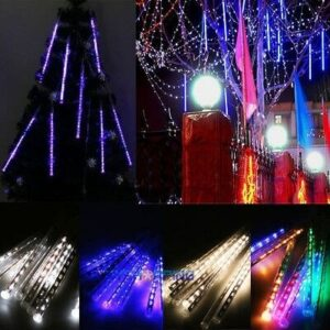 HENYNET Cool Meteor Shower Falling Star/Rain Drop/Icicle Snow LED Xmas Tree String Light Waterproof