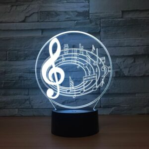 3D Stereo Visual Light LED Ambience Night Light Bedside USB Powered Reading Lamp 1016