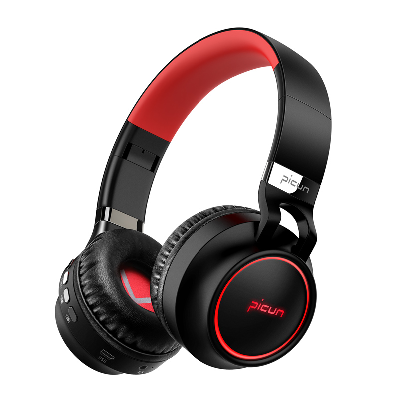 Pincun P60 Wireless bluetooth Headphone Foldable CVC Noise Cancelling TF Card Aux-in Stereo Headset
