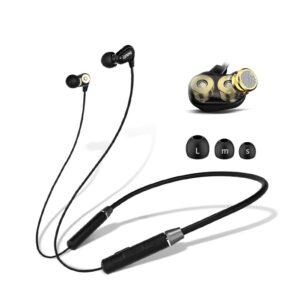 Lenovo HE08 Dual Dynamic Smart bluetooth 5.0 Sports Neckband Earphone In-Ear Music Wireless Earbuds with HD Mic