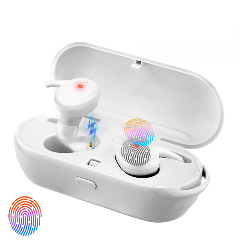 Wireless bluetooth Hi-Fi TWS Earphone Smart Touch Binaural Call Noise Reduction Waterproof With Portable Charging Box