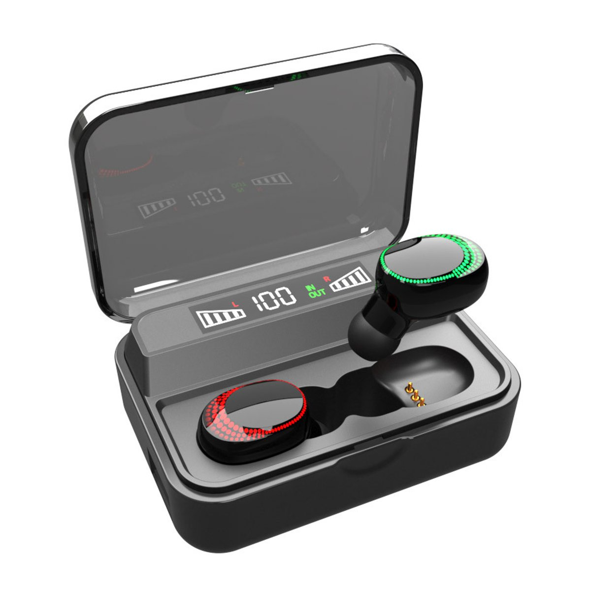 bluetooth 5.0 Earphone Touch TWS Wireless Earbuds With LED Charging Box IPX7 Waterproof Noise reduction Bluetooth Headphones