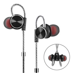 HIFI Metal Magnetic Adsorption Earphone 3.5mm Wired Control Bass Stereo Headphone with Mic