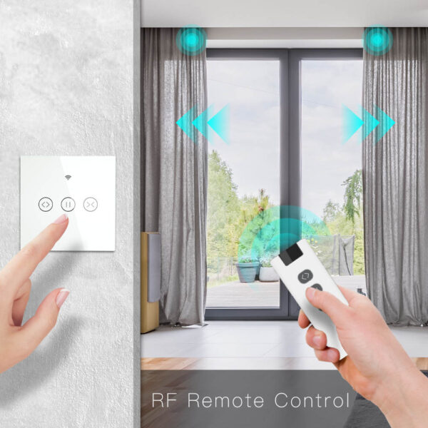 Smart Remote Home Electric Curtain Control WiFi Touch Switch for Electric Curtain Blind Shutter Voice Control for Alexa