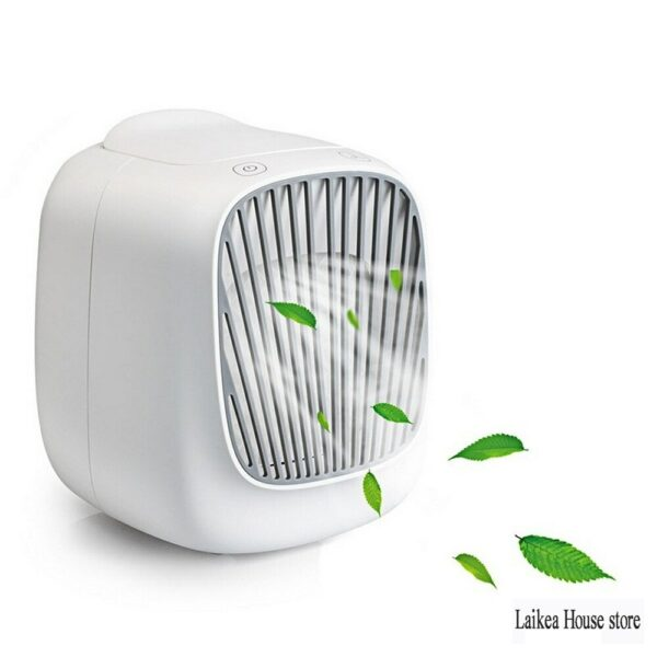 New Mini USB Cooler Home Desktop Small Refrigeration Air Conditioner Portable Mobile Humidification Water Cooling Electric Fan