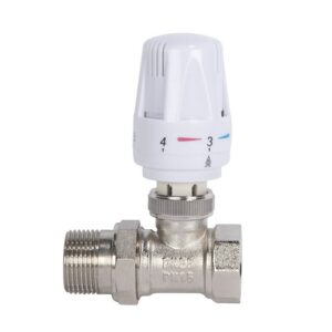 Automatic Thermostatic Radiator Valve Thermostat Temperature Control Valve Angle Floor Heating Special Valve Copper DN15 DN20