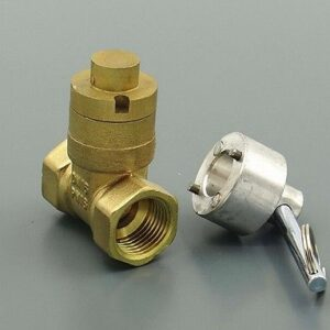 "Brass Magnetic Lock Gate Valves 1""  BSP Equal Female Thread for Water meter"