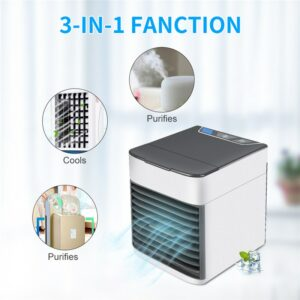Mini USB Air Cooler Fan Portable  Air Conditioner Air Cooling Fan Humidifier Purifier for Office Bedroom Desk Air Conditioner