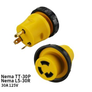 US Nema TT-30P To Nema L5-30R Anti-drop Industrial Groungding Locking Adapter Connector Converter Plug Socket Power Cable Cord