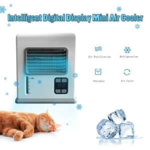 USB Purification Conditioner Humidifier Fan Portable Digital Display Cooling Fan Portable Air Office Sleeping Conditioner Cooler