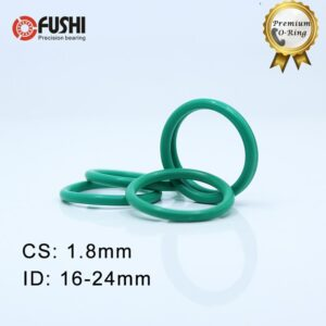 CS1.8mm FKM Rubber O RING ID 16/17/18/19/20/21.2/22.4/23.6/24*1.8 mm 100PCS O-Ring Fluorine Gasket Oil seal Green ORing