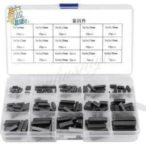 140pcs Round Ended Feather Key Parallel Drive Shaft Keys Dowel Set 8mm 10mm 12mm 16mm 20mm 25mm 30mm Hardware