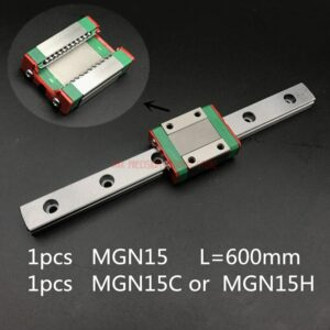 Linear Rail Cnc Router Parts AXK 15mm Linear Guide Mgn15 L=600mm Rail Way + Mgn15c Or Mgn15h Long Carriage For Cnc X Y Z Axis