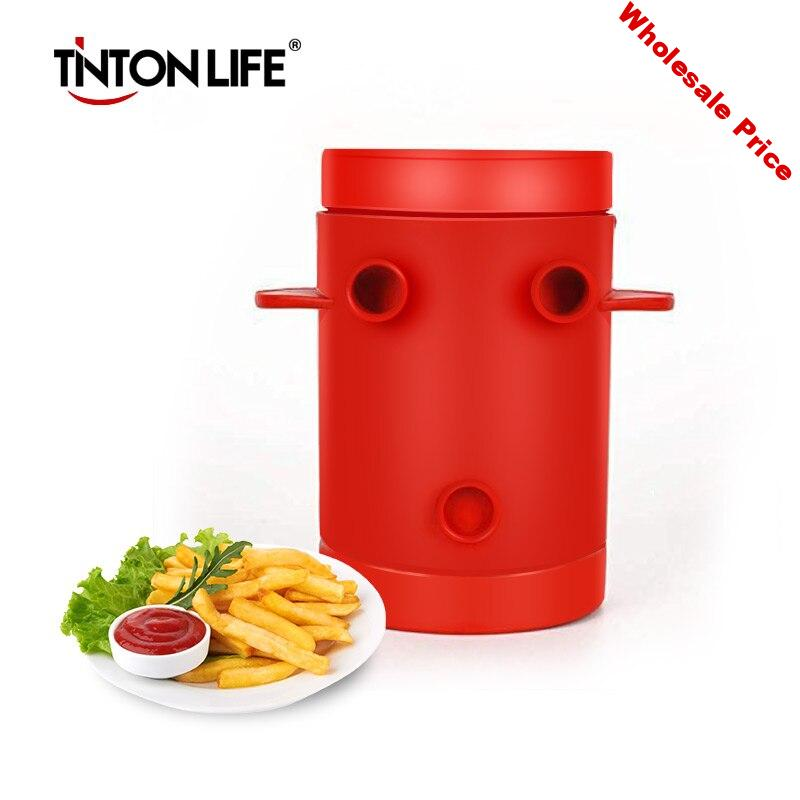 Copper Fries Potatoes Maker slicers French Fries Maker Jiffy Fries Cutter Machine & Microwave Container 2-in-1No Deep-Fry