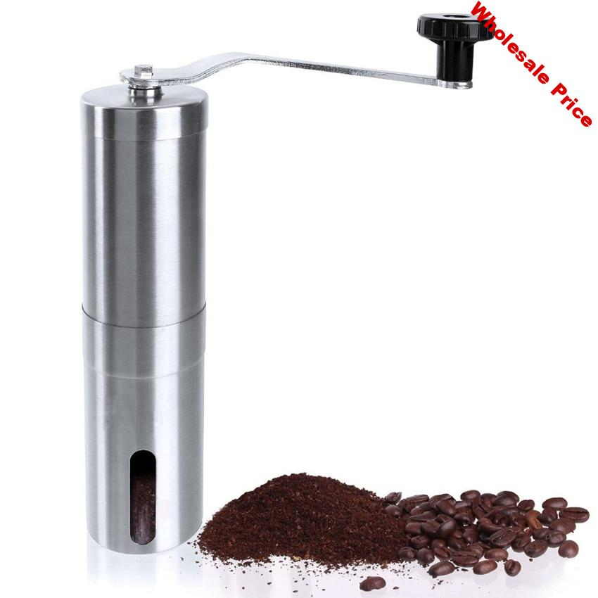 Manual Coffee Grinder ceramics Core   304 Stainless Steel Hand Burr Mill    Grinding Machine