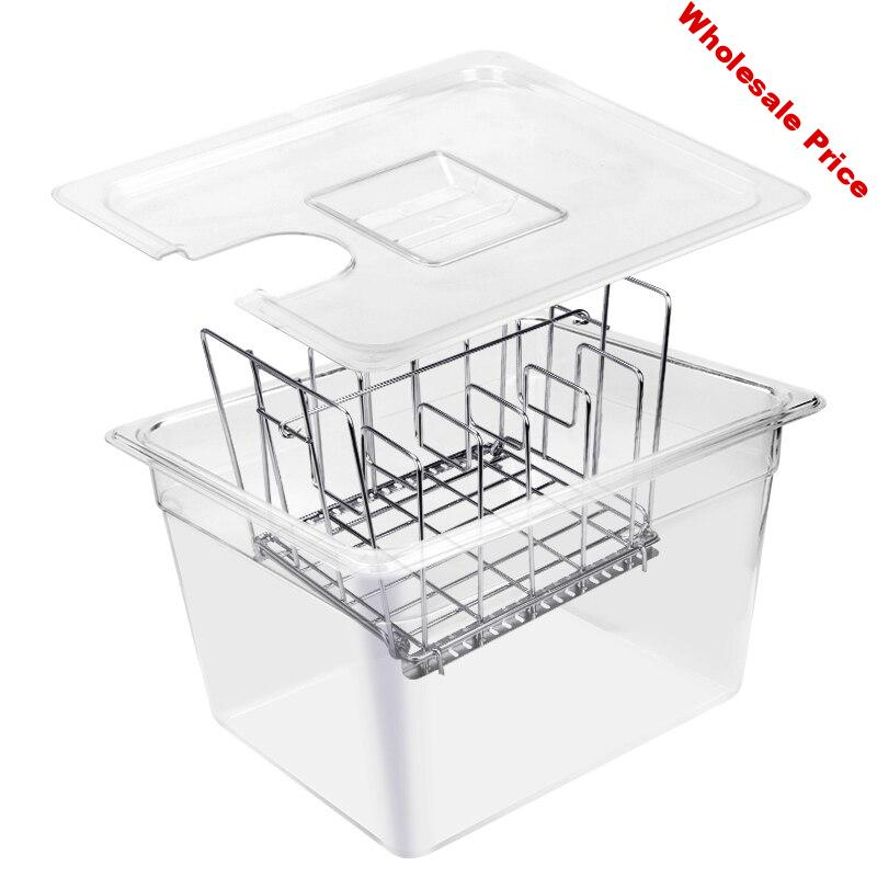 Sous Vide Container with Lid 11 Liter Water Tank Bath for Circulator Sous Vide Culinary Immersion Slow Cooker