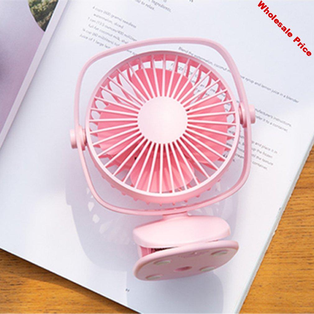 Usb Small Fan Mini Mute Rechargeable Portable Stroller Student Dormitory Bedside Office Professional Fashion