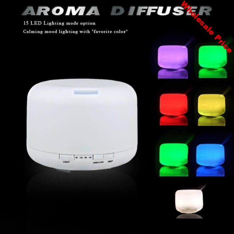 500ml Aroma Essential Oil Diffuser Ultrasonic Air Humidifier with 7Color Changing LED Light Electric Aroma Mist Maker