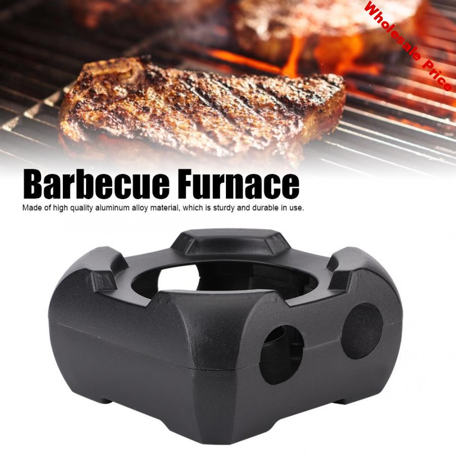 BBQ Grill Non-Stick Square Shape Aluminum Alloy Barbecue Furnace BBQ Grill for Indoor Outdoor Use Grilling Picnic Camping