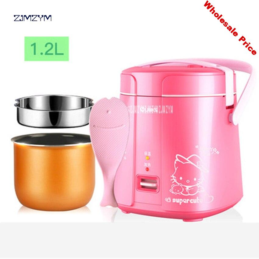 Mini Rice Cooker Electric Rice Cooker Auto Rice Cooker With Cute Pattern For Rice Soup Porridge Steamed Egg SF168 1.2L Capacity