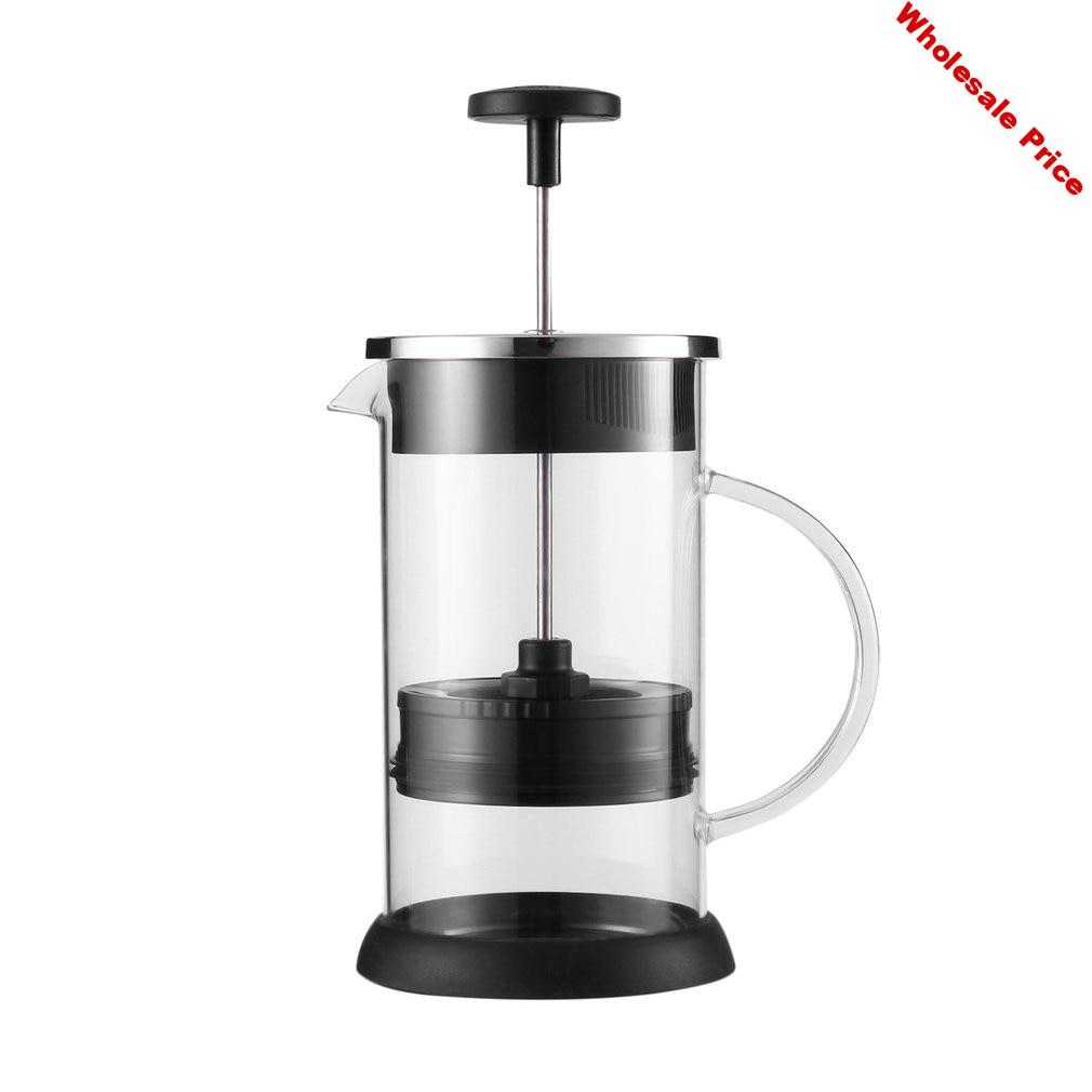 1000ml French Style Cafe Glass Coffee Pot Percolator Pump With Handle Kitchen Accessories French Press Coffee Tea Plunger Maker