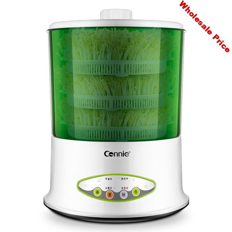 220V Electric Bean Sprouts Machine  Large Capacity Thermostat Green Seeds Growing Automatic Bean Sprout Machine