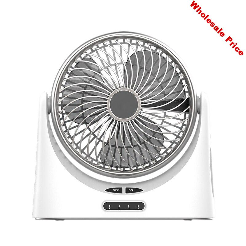 AD-Usb Desk Fan Small Personal Air Circulator Fan Portable Electric Table Desktop Fan Rechargeable Travel Fans For Camping Offic