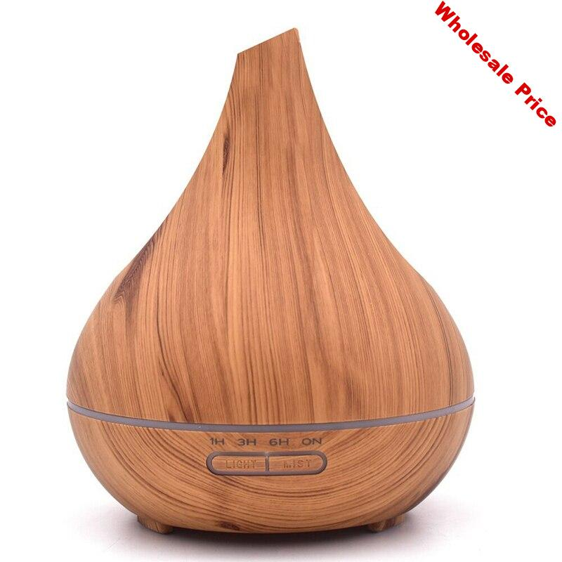 400Ml Ultrasonic Air Humidifier Aroma Essential Oil Diffuser Wood Aromatherapy Cool Mist Maker Fogger Air Vaporizer