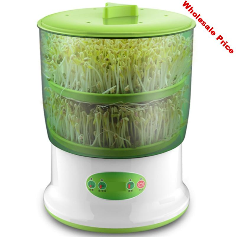 Double Layer Bean Sprouts Machine Automatic  Household Digital Multi-function Bean Sprouts Accessories Bean Sprouts Pot