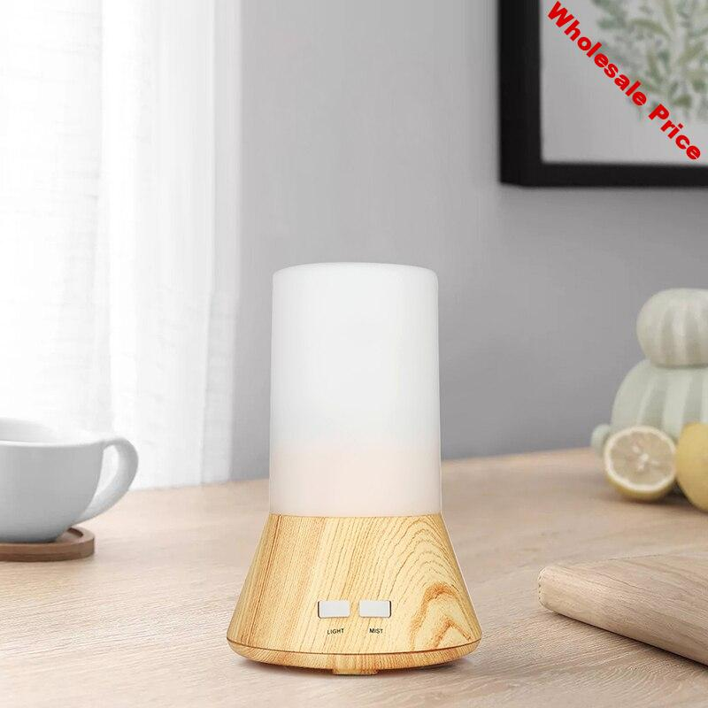 Wood Grain Air Humidifier Multifunction Silent Bluetooth Audio Anti-Dry Aroma Humidifier Air Purifier with Light