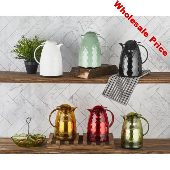 Thermos Pot glass kettle jug thermos coffee pot tea water jug 1L   water cooler  prism pattern