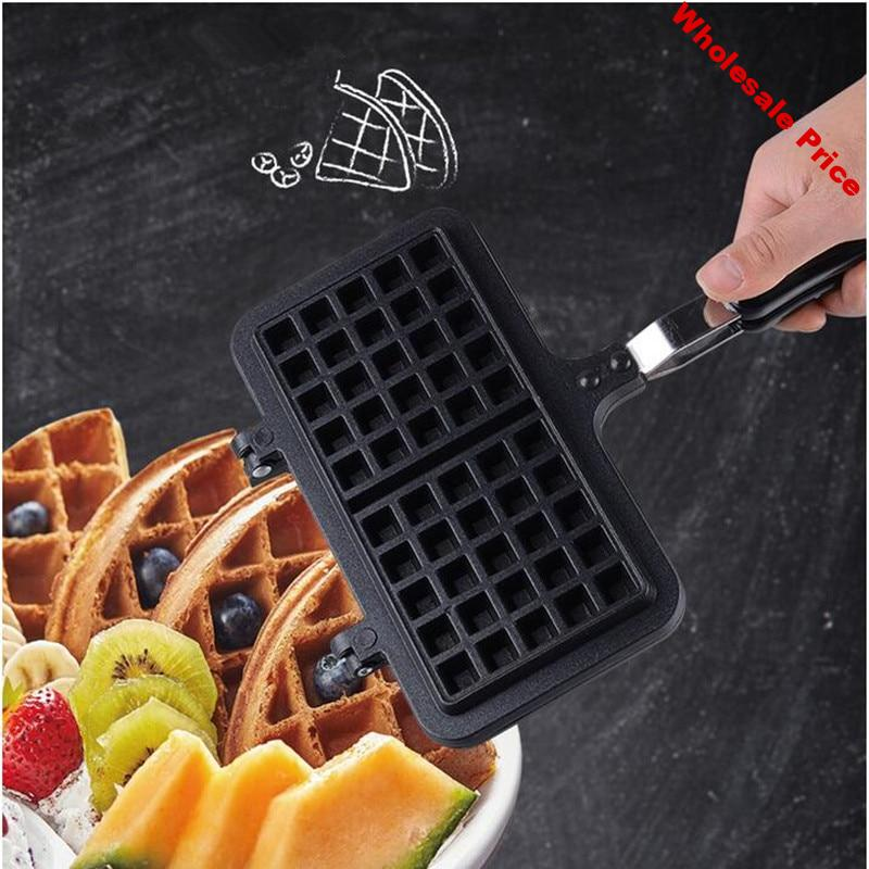 Waffle mold household non-stick cake bakeware DIY waffle machine flame non-stick waffle plate baker High quality kitchen tool