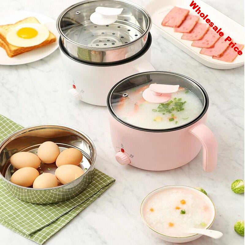 220V Mini Pot 1.2L High Quality Electric Cooker Household Multi Cooker Pot Pink/White Color Available Hot Pot Cooking Machine