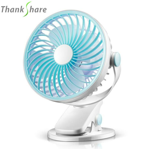 THANKSHARE USB Mini Fans Operation Super Mute Silent Angle Adjustable 4 Blades Cooler Cooling Fan for PC Laptop Computer