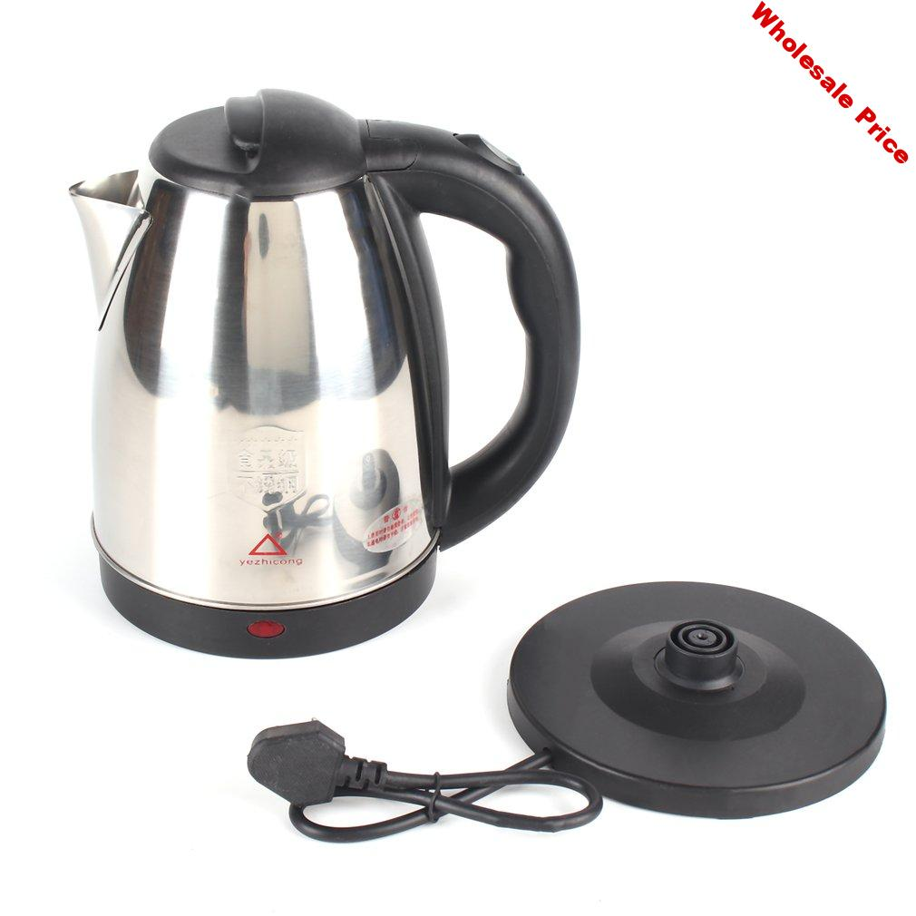 2L Stainless Steel Cordless Electric Kettle 220V Electric Water Kettles 1800W Power 360 Degree Rotational Base Jug Kettle