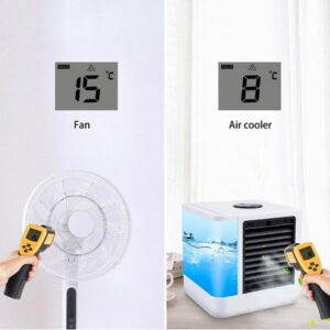 12V Electric LED Arctic Air Conditioners Cooling Table Fans Portable AC Small Space Humidifiers Cooler 3 Gears Wind Evaporative