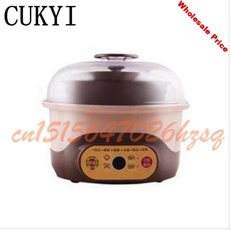 CUKYI 1-2L Multifunctional cooker electric 150W Slow Cookers Purple clay water proof stewpan cooking gruel Health slow cooker